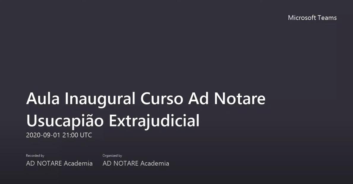 Aula inaugural – Curso Ad Notare Usucapião Extrajudicial Desembargador Ricardo Dip